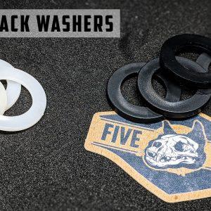 3PDT Black Nylon Washers